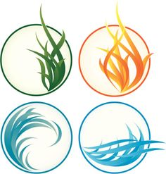 Earth, Air, Fire, Water Four classical elements. looking for fire tattoo 4 Elements, Classical Elements, Four Elements Tattoo, What Element Are You, Element Symbols, Tatoo Art, Sister Tattoos, Simple Lines, Free Vector Art