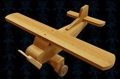 Old Airplane Wooden Toy - Autodesk 3ds Max, Parasolid, OBJ, SketchUp, STL, STEP / IGES, SOLIDWORKS, Other - 3D CAD model - GrabCAD