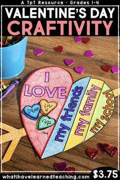 A Valentine's Day Craftivity where students reflect on what makes themselves, their friends, family, and school special. This is the perfect classroom activity leading up to Valentine's Day. Find the ideal childrens toys for your youngsters Valentine's Day Crafts For Kids, Valentine Crafts For Kids, Sunday School Crafts, Holiday Crafts, Holiday Themes, Valentines Day Activities, Holiday Activities, Art Activities, Valentines Day Food