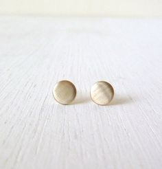 Modern Gold Dots Sterling Silver Stud by LibiClozet on Etsy