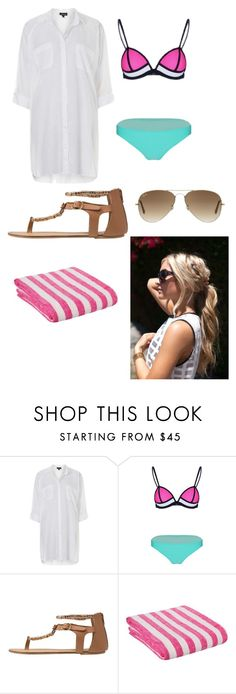 """Beach"" by crazycandy202 ❤ liked on Polyvore featuring Topshop, Miss Selfridge, Ray-Ban, women's clothing, women's fashion, women, female, woman, misses and juniors"