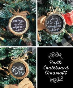 Mason Jar Ring Chalkboard Ornaments - The Craft Patch