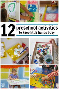 Fun and engaging activities for preschool aged kids to keep them busy and learning.