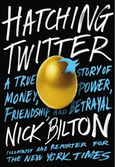 """Hatching Twitter: A True Story of Money, Power, Friendship, and Betrayal. This startup origin story is fascinating even if you have zero interest in startups and little interest in twitter, and makes you understand why """"the truth is stranger than fiction"""" is a saying. Imagine a Jon Krakauer narrative set in San Francisco instead of in the wild."""