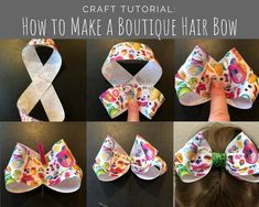 How To Make Ribbon How To Make Hair Disney Hair Bows Bow Accessories Ribbon Hair Bows Making Hair Bows Boutique Hair Bows Girls Bows Diy Hairstyles Ribbon Hair Bows, Diy Hair Bows, Diy Ribbon, Ribbon Crafts, Bows With Ribbon, Crochet Hair Bows, Flower Hair Bows, Fabric Hair Bows, Bow Hair Clips