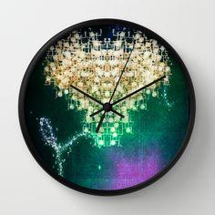 space+heart+Wall+Clock+by+Parastar+Arts+-+$30.00