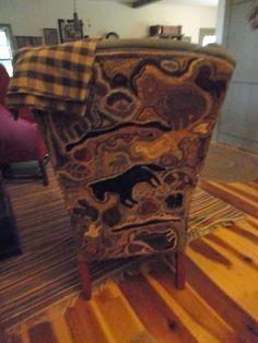 Love the hooked chair back... via Ali Strebel