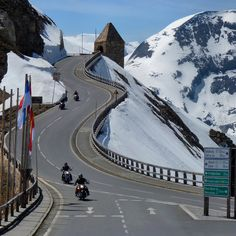 #ridecolorfully on Austria's Grossglockner High Alpine Road