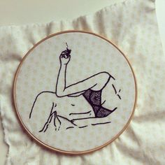 I love the more modern sexy side of embroidery