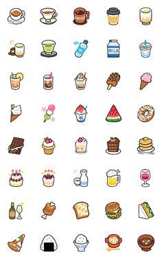 Emoji-Drink(Japanese) – LINE อิโมจิ | LINE STORE Cute Small Drawings, Cute Food Drawings, Mini Drawings, Kawaii Drawings, Food Drawing Easy, Easy Doodles Drawings, Simple Doodles, Kawaii Doodles, Cute Doodles