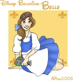 Disney Ballerinas: Belle by MandiPope.deviantart.com on @deviantART