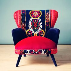 eu.Fab.com | Patchwork Armchair Summer . . . chair with Royal qualities for just £1247.