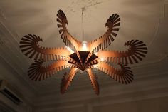 Wooden Chandelier  Large 8 lamp wood pendant by LeoXavierHandmade, €1000.00