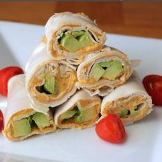 Turkey, Avocado and Hummus Roll Ups