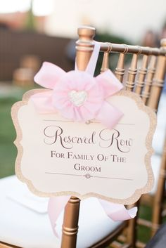 reserved #seating #sign for your wedding ceremony @weddingchicks