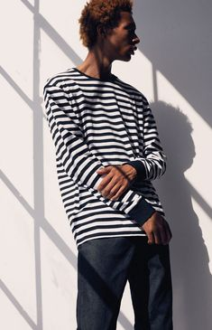 3a440fc9f3 Pacsun Baron Stripe Long Sleeve T-Shirt - XLG Baron