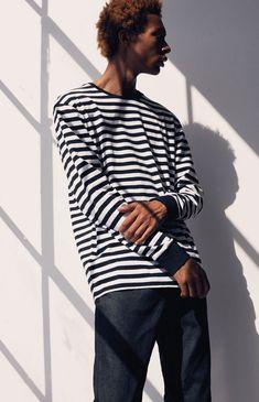 311011f199 Pacsun Baron Stripe Long Sleeve T-Shirt - XLG Baron
