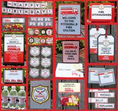 FIREMAN Invitation  Printable Birthday Party Collection