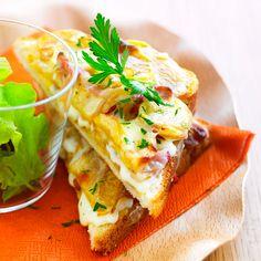 Découvrez la recette Croque tartiflette sur cuisineactuelle.fr.