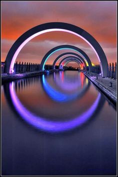 The Falkirk Wheel, Scotland. It can be a dauntin… The Places Youll Go, Places To See, Places To Travel, Puente Golden Gate, Falkirk Wheel, Beautiful World, Beautiful Places, Scotland Travel, Glasgow Scotland