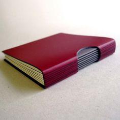 buttonhole book red por littlepaperbird en Etsy