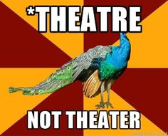 YES! FINALLY! I cannot over stress this. Theatre is what we do, theater is where we do it.
