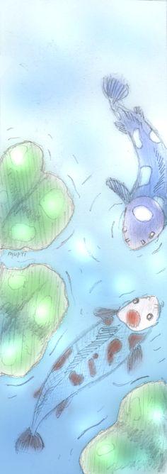 koi fish #bookmark