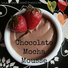 Chocolate Mocha Mousse - 21 Day Fix Recipes - Clean Eating Recipes - Healthy Recipes - - 21 Day Fix Meals - Desserts www.simplecleanfitness.com