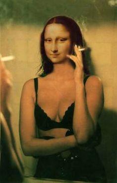 Mona having a smoke