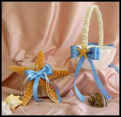 Starfish Beach Wedding Ring Pillow and and Flower by All4Brides, $55.00