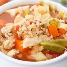 Weight Watchers Recipes Discover Zero Point Weight Watchers Cabbage Roll Soup Keto Recipe Pin by Nardong Putik Weight Watchers Meal Plans, Weigh Watchers, Weight Watcher Dinners, Weight Watchers Free, Weight Watchers Sides, Weight Watchers Salad, Weight Watchers Program, Weight Watchers Lunches, Weight Watchers Chicken