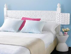 How to Make a Pressed-Tin Headboard Make a classic-looking pressed-tin headboard to add interest and texture to your bedroom. Pink Headboard, Headboard Decor, Bedroom Decor, Teen Bedroom, Bedroom Ideas, Homemade Headboards, Diy Headboards, Furniture Projects, Home Projects