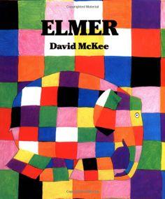 """Elmer by David McKee: it's OK to be different. ' Iedereen mag er zijn zoals hij is!"""" - Elmer wat een ontzettend vrolijk , grappig en leuk boek. Ook de moraal van het verhaal komt duidelijk naar boven in het verhaal. Leuk boek met een boodschap!"""