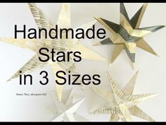 Make Christmas Stars in 3 Sizes for Your Christmas Tree! - YouTube