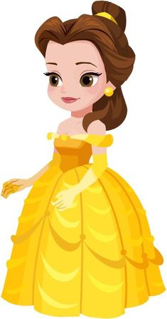 Cute Disney Drawings, Disney Princess Drawings, Disney Princess Party, Disney Princess Pictures, Princess Cartoon, Princess Art, Girl Cartoon, Disney Princess Toddler, Disney Belle