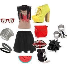 When in doubt rock out♥, created by indigostarr on Polyvore