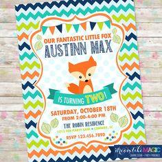 Pequeño zorro invitar invitación de cumpleaños de Fox