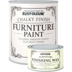 Save money with this Rust-Oleum Chalky Finish Furniture Paint & Wax Combo http://www.thedecoratingcentre.co.uk/rust-oleum-chalk-furniture-paint-and-finishing-wax.html