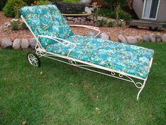 MID Century Modern Wrought Iron Patio Lounge Chair Circa 1960s | eBay