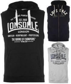 Lonsdale-Caja-Sin-Mangas-Con-Capucha-Hombre-Chaleco-Entrenamiento-Boxeo-S
