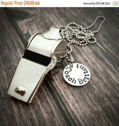 Custom whistle personalized coaches by BrandiAlewineDesigns