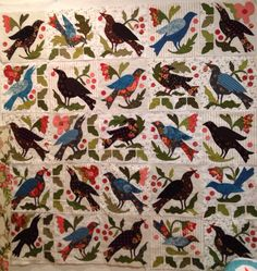 Birdsong, Blackbird design, by Happy Appliquer