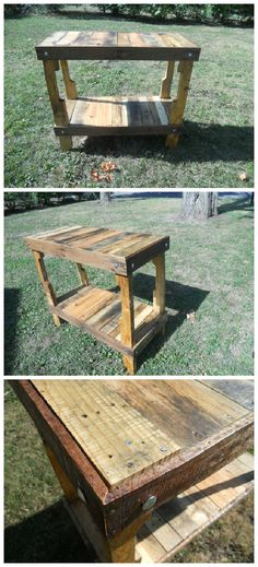 Kitchen Island Out Of Pallets table centerpiece made out of pallet wood • pallet ideas | pallet