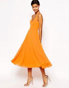 Image 4 of ASOS PETITE Pleat Midi Dress