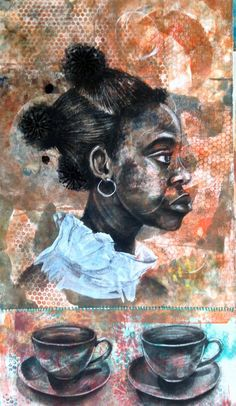 The Offering Mixed Media 36 x 53 2014 Sold Black Female Artists, Late 20th Century, Mixed Media, History, Usa, Painting, Beautiful, Historia, Painting Art