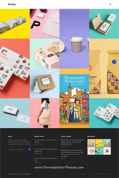 Westy is clean, stylish and modern design responsive multipurpose #WordPress #template for #masonry style #portfolio showcase website with 60+ niche homepage layouts to live preview & download click on image or Visit   #websitedesign