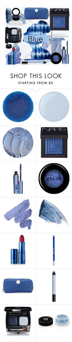 """""""Blue Beauty 2.0"""" by aphrothena13 ❤ liked on Polyvore featuring beauty, Lipstick Queen, Essie, Oliver Gal Artist Co., NARS Cosmetics, Benefit, Stila, Sisley - Paris, Urban Decay and Neiman Marcus"""