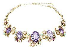 #Colette necklace made with #swarovskicrystals  #uneligneparis #swarovski #flowers #summer #jewelry #jewelrygram #highjewelry #paris #marais #handmadejewelry