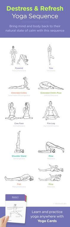 Bring mind and body back to theirnatural state of calm with this yoga sequence and get more at http://wlshop.co/products/yoga-cards-womens