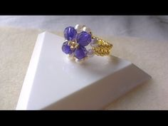ANILLO OCEANO AZUL - OCEAN BLUE RING - YouTube